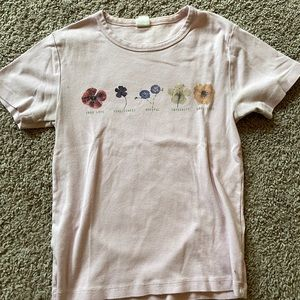 Urban outfitters 90s inspired tshirt with flowers